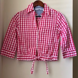 Tommy Hilfiger Tie Front Button Down Top Size 4